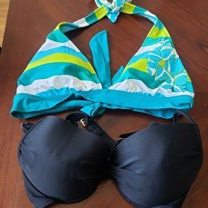 2 bikini tops